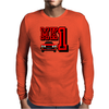 Ford Fiesta MK1 Classic Car Red Mens Long Sleeve T-Shirt