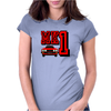 Ford Fiesta MK1 Classic Car Red Womens Fitted T-Shirt