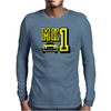 Ford Fiesta MK1 Classic Car Yellow Mens Long Sleeve T-Shirt