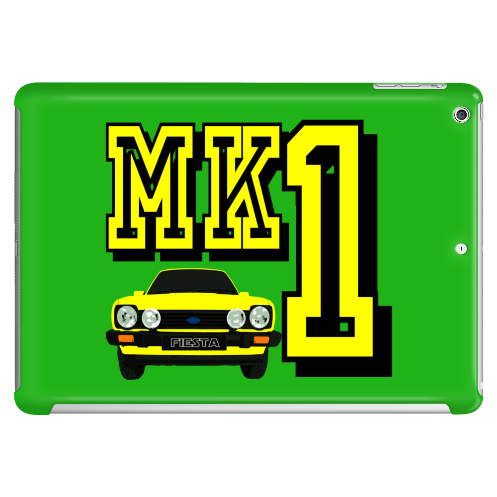 Ford Fiesta MK1 Classic Car Yellow Tablet
