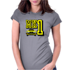 Ford Fiesta MK1 Classic Car Yellow Womens Fitted T-Shirt