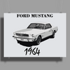 Ford Mustang 1964, the first one Poster Print (Landscape)
