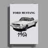 Ford Mustang 1964, the first one Poster Print (Portrait)