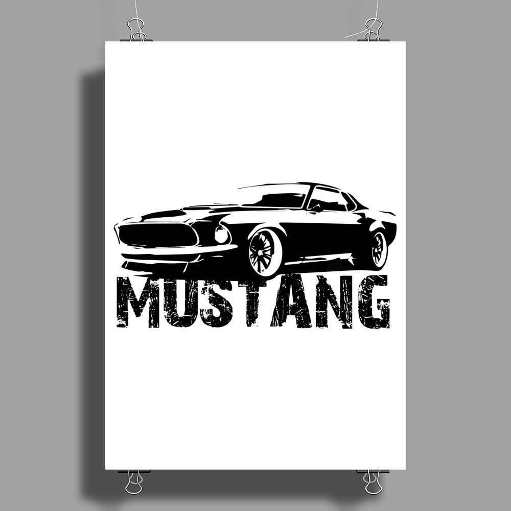 Ford Mustang Poster Print (Portrait)