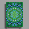 Forest Lily Mandala 2 Poster Print (Portrait)