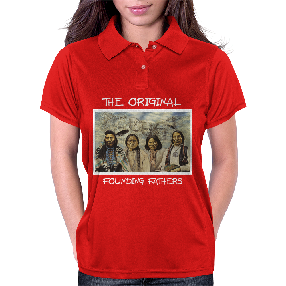 Founding Fathers with Rushmore Womens Polo