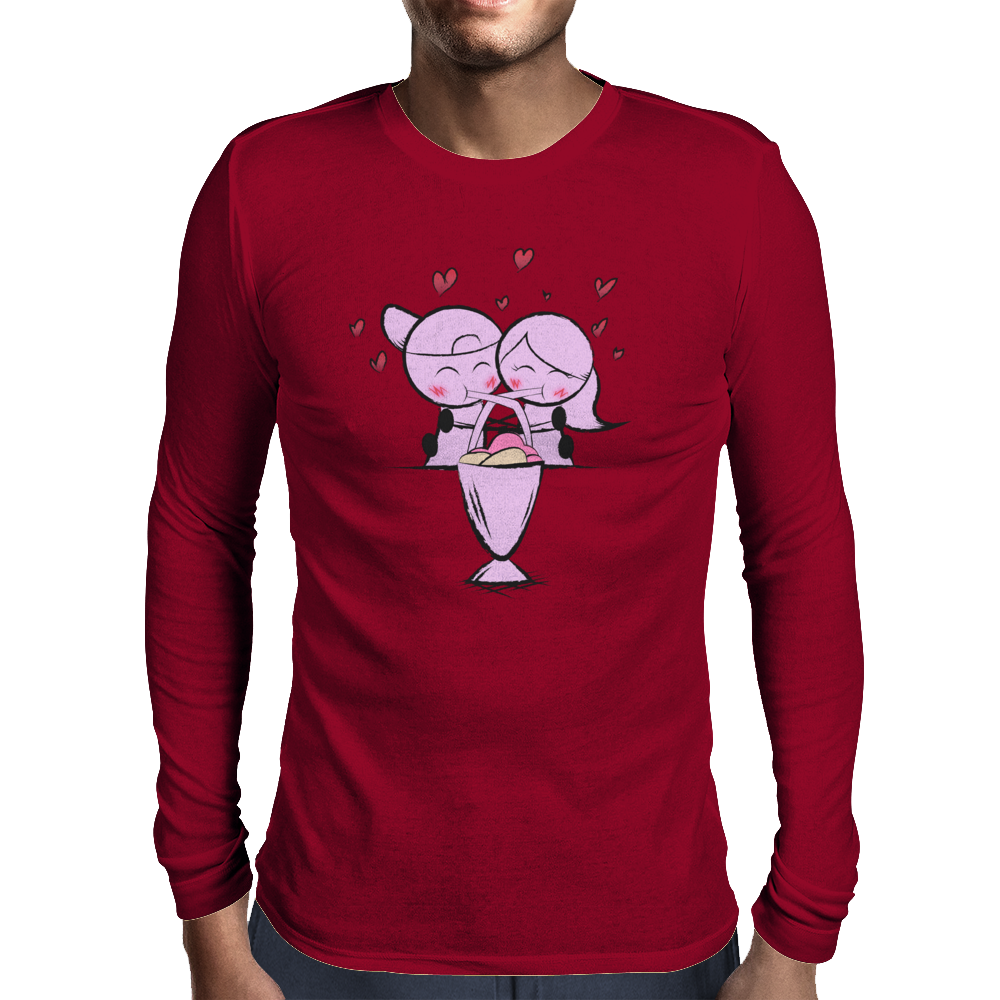 Fountain of Love Mens Long Sleeve T-Shirt