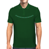 Four Cluster Emerald Necklace Mens Polo