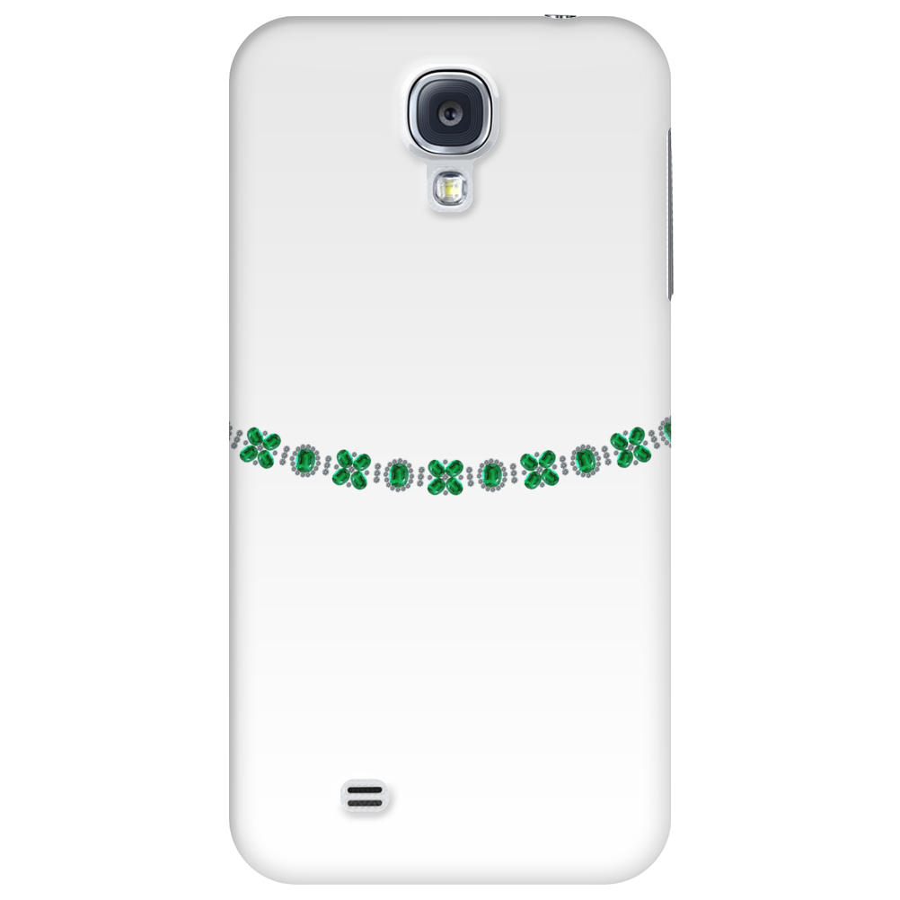 Four Cluster Emerald Necklace Phone Case