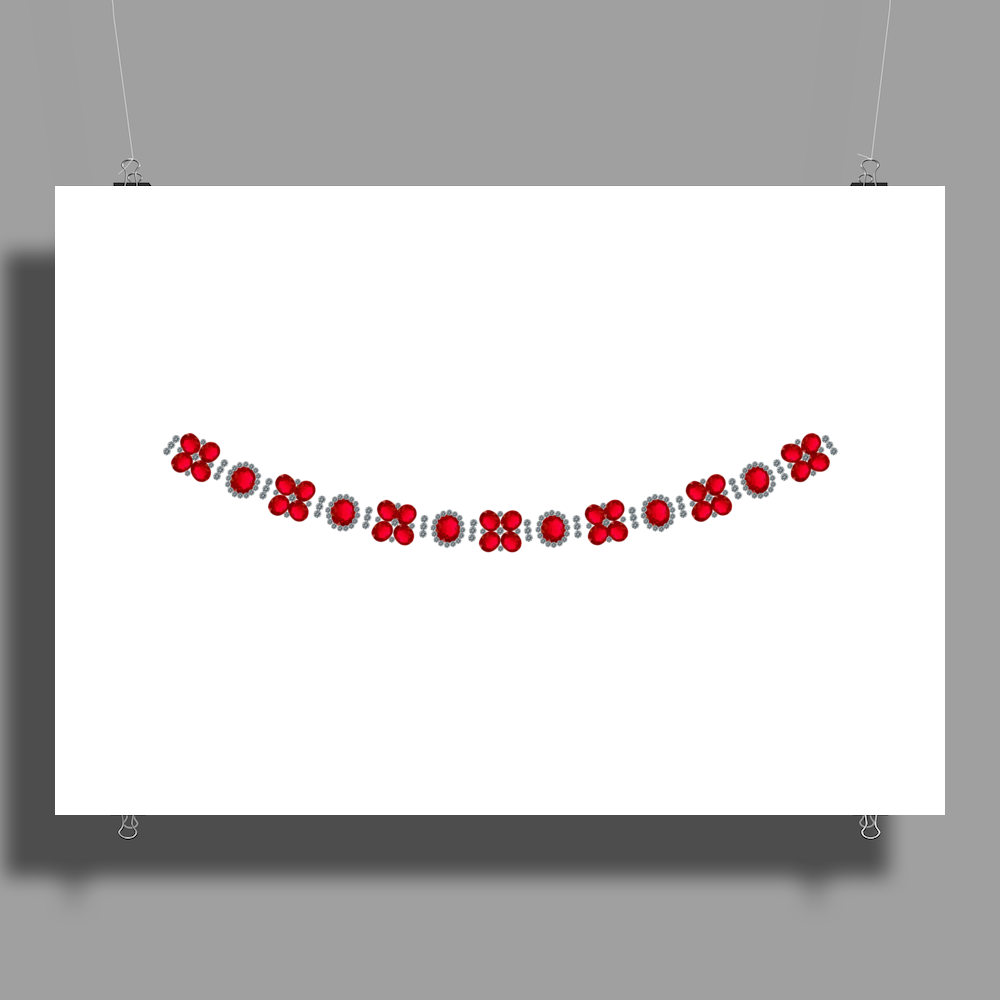 Four cluster Ruby Necklace Poster Print (Landscape)