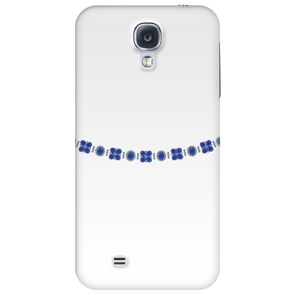 Four Cluster Sapphire Necklace Phone Case