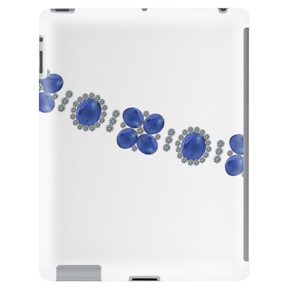 Four Cluster Sapphire Necklace Tablet