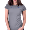 Four Cluster Sapphire Necklace Womens Fitted T-Shirt