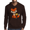 Foxy Red Fox with White Wine Glass Mens Hoodie