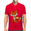 Foxy Red Fox with White Wine Glass Mens Polo