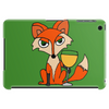 Foxy Red Fox with White Wine Glass Tablet