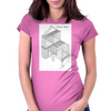 Frame load cutaway Womens Fitted T-Shirt