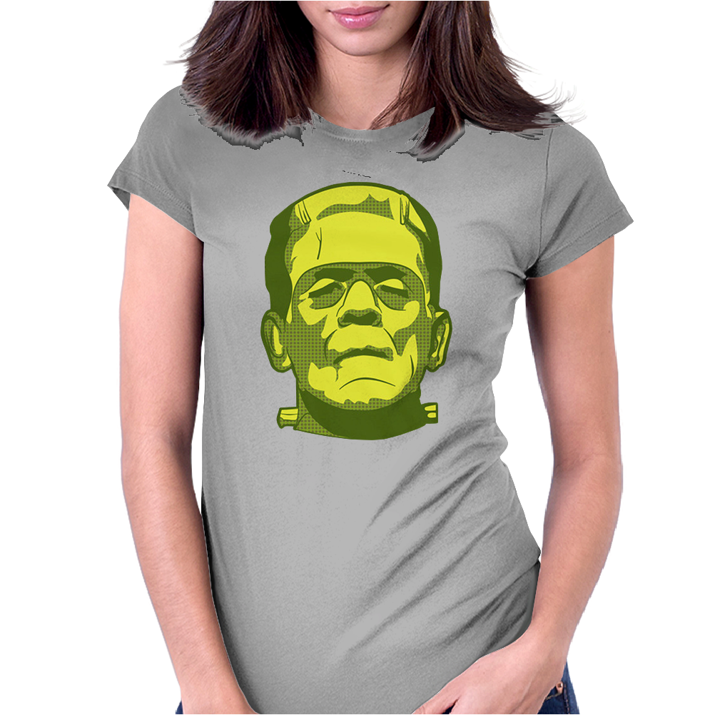 Frank Halloween Scary Monsters Womens Fitted T-Shirt