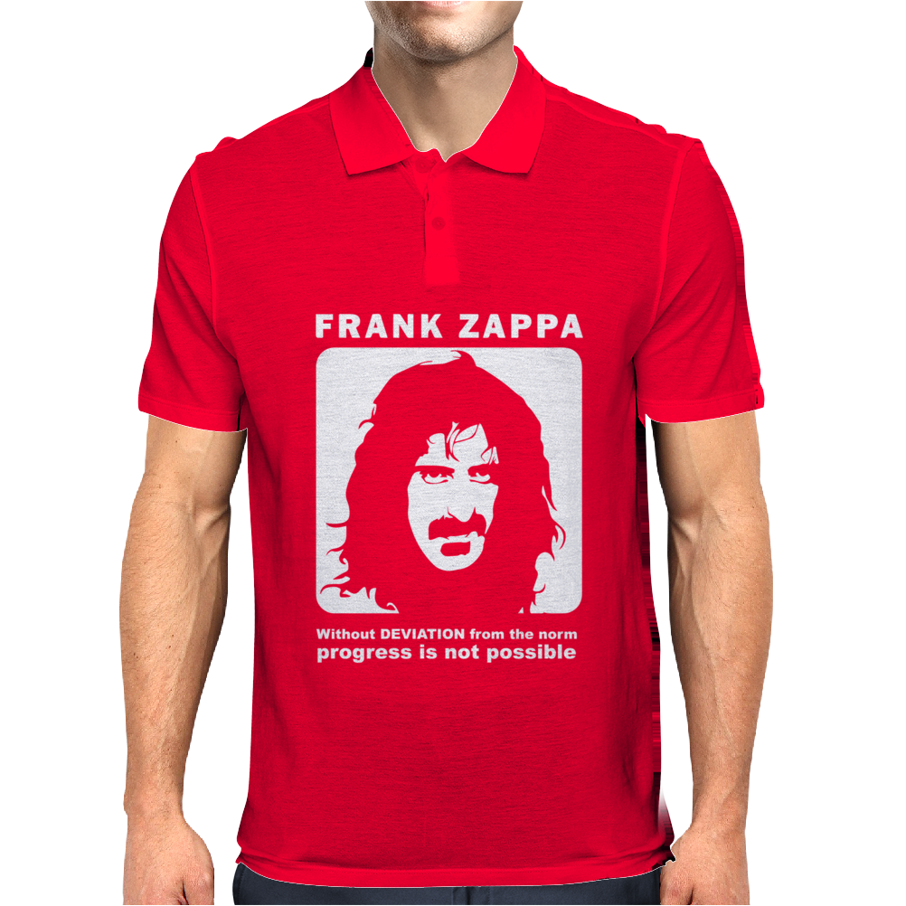 Frank Zappa Without Deviation From The Norm Mens Polo