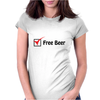 Free Beer Womens Fitted T-Shirt
