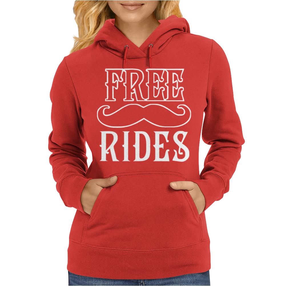 Free Mustache Rides Womens Hoodie