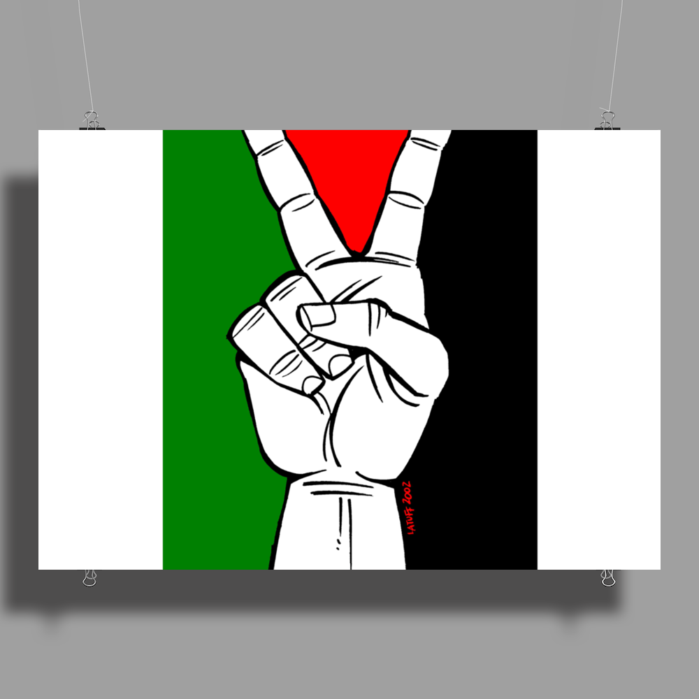 Free Palestine - Peace In Middle East Poster Print (Landscape)