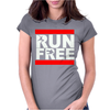 Free Running Parkour Run Free Womens Fitted T-Shirt