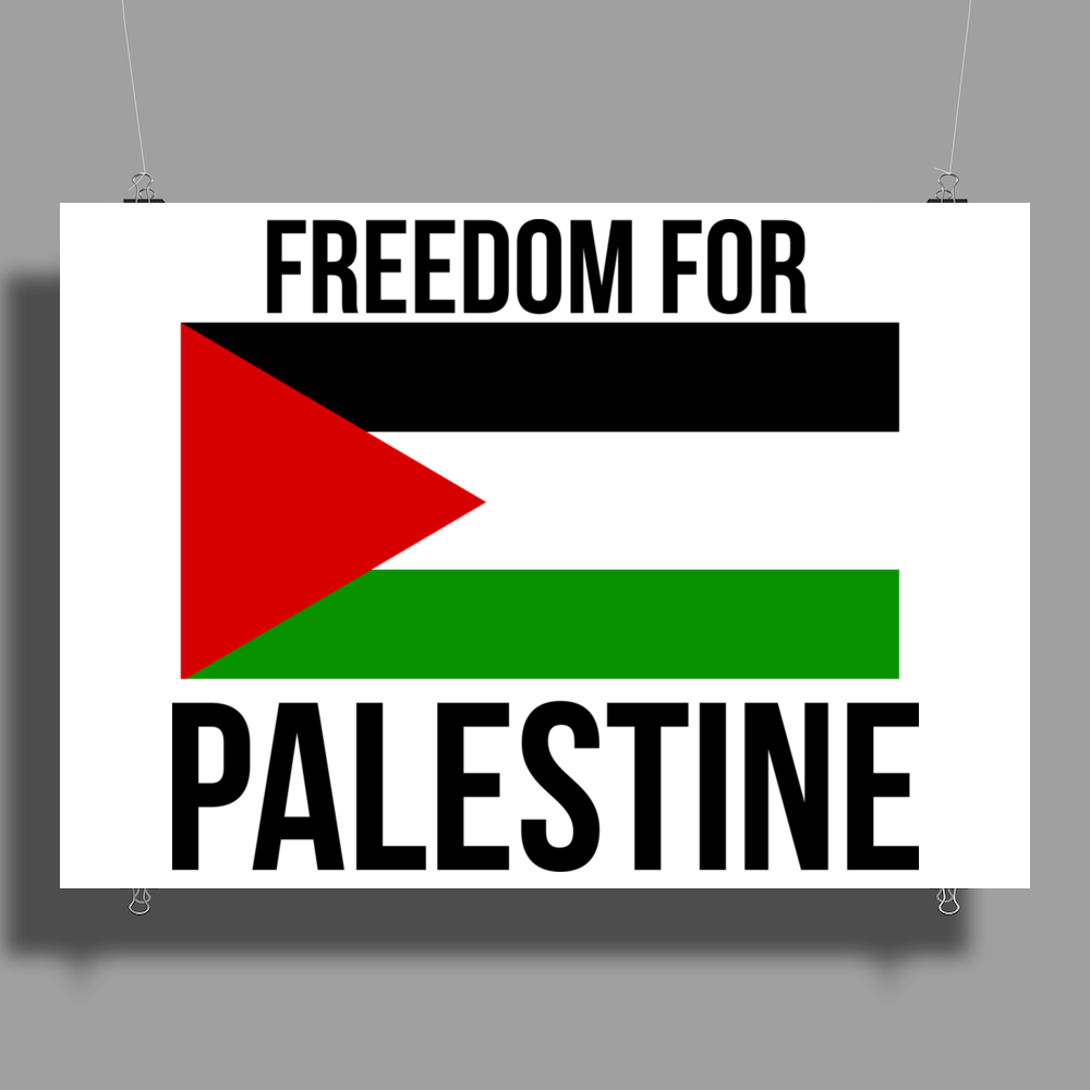 Freedom in Palestine Poster Print (Landscape)