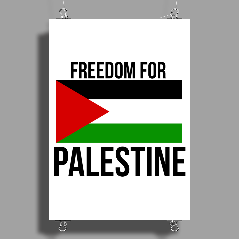 Freedom in Palestine Poster Print (Portrait)