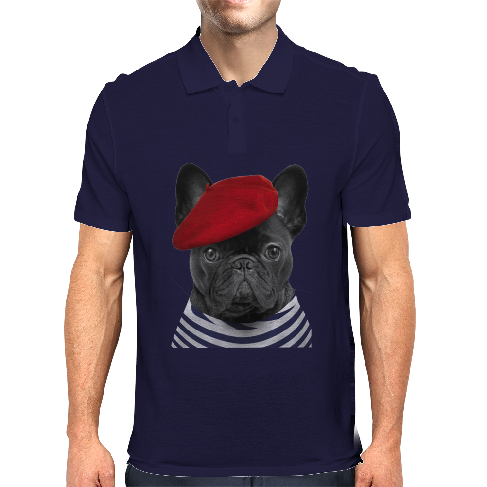 French Bulldog Mens Polo