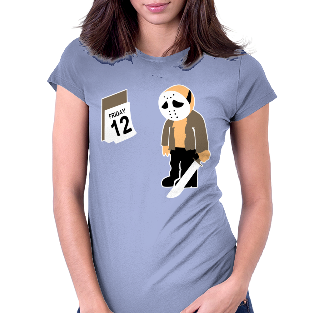 Friday The 12Th Funny Horror Movie Womens Fitted T-Shirt