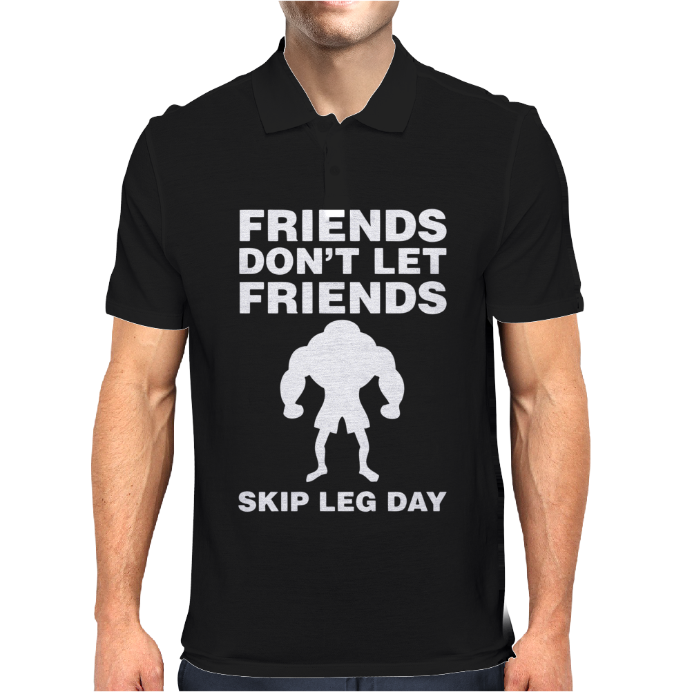 Friends Dont Let Friends Mens Polo