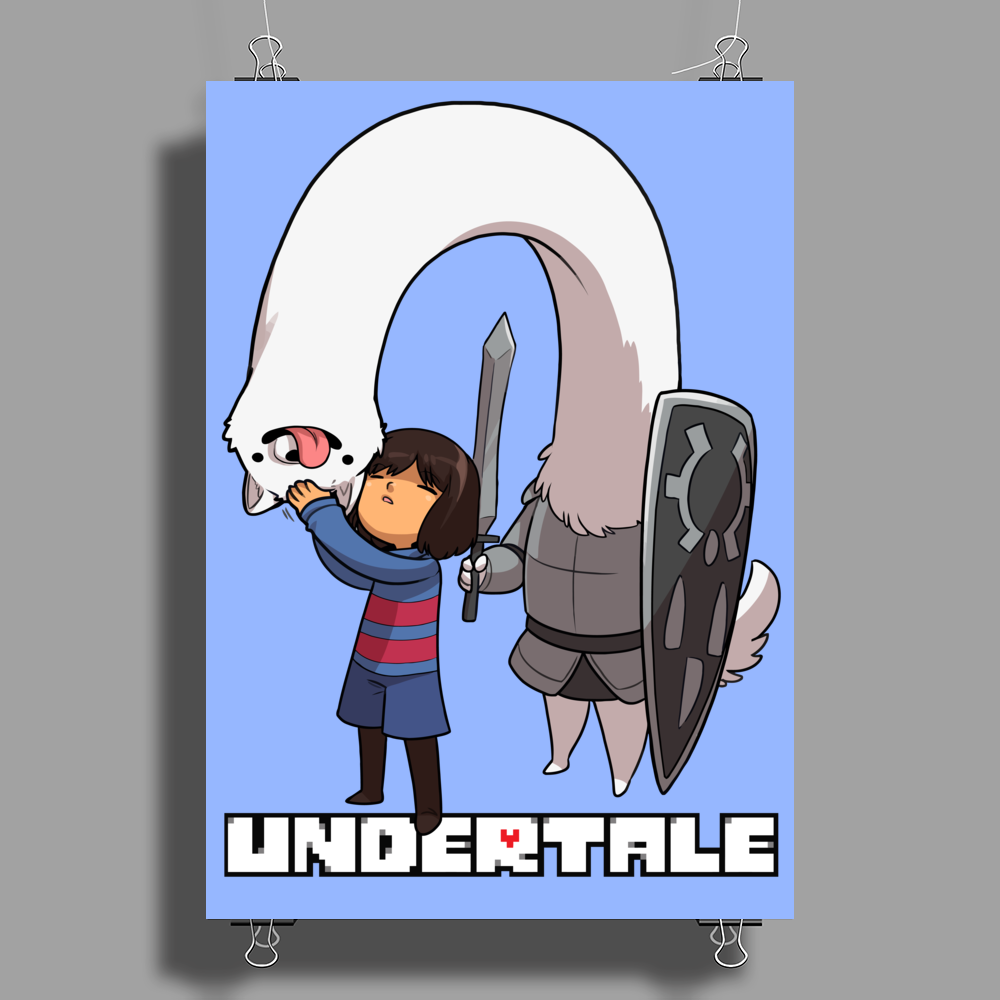 Frisk and Lesser Dog Poster Print (Portrait)