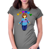 Frisk -  stay determined Womens Fitted T-Shirt