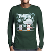 Frosty Fun Penguin Mens Long Sleeve T-Shirt