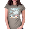 Frosty Fun Penguin Womens Fitted T-Shirt