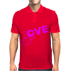 Fuck Love Party Mens Polo