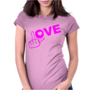 Fuck Love Party Womens Fitted T-Shirt