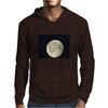 Full moon in black sky Mens Hoodie