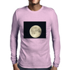 Full moon in black sky Mens Long Sleeve T-Shirt