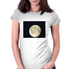 Full moon in black sky Womens Fitted T-Shirt