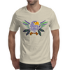 Fun Artistic Eagle and Feathers Abstract Art Mens T-Shirt