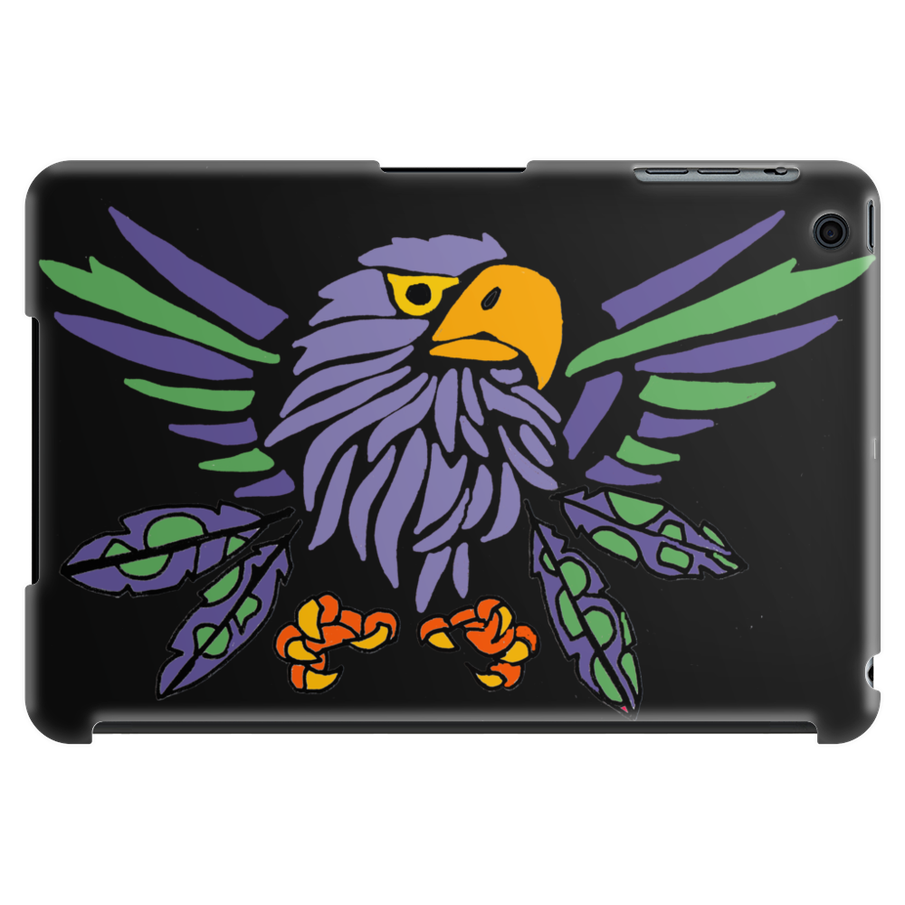 Fun Artistic Eagle and Feathers Abstract Art Tablet