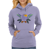 Fun Artistic Eagle and Feathers Abstract Art Womens Hoodie