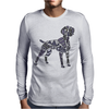 Fun Artistic Weimaraner Dog Art Mens Long Sleeve T-Shirt