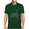 Fun Artistic Weimaraner Dog Art Mens Polo