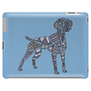 Fun Artistic Weimaraner Dog Art Tablet