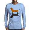 Fun Awesome Artistic dachshund Dog ans Shadow Art Mens Long Sleeve T-Shirt