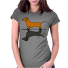 Fun Awesome Artistic dachshund Dog ans Shadow Art Womens Fitted T-Shirt