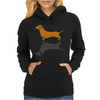 Fun Awesome Artistic dachshund Dog ans Shadow Art Womens Hoodie